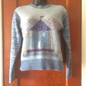 Vintage knit pullover sweater